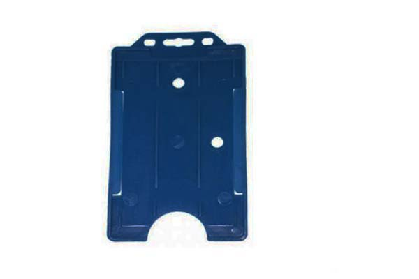 Royal Blue Portrait Double ID Card Holder