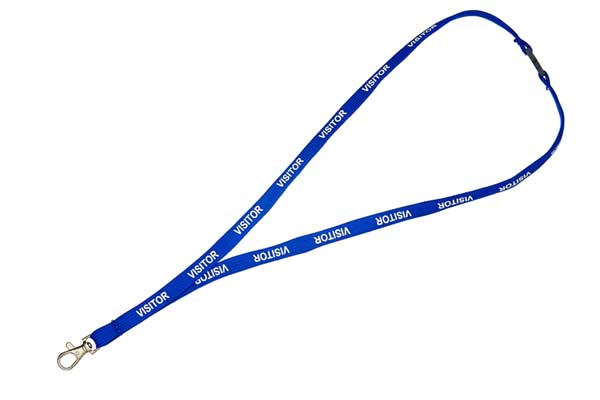 Royal Blue Visitor Lanyard