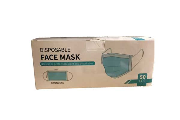 Box of 50 Surgical Face Masks
