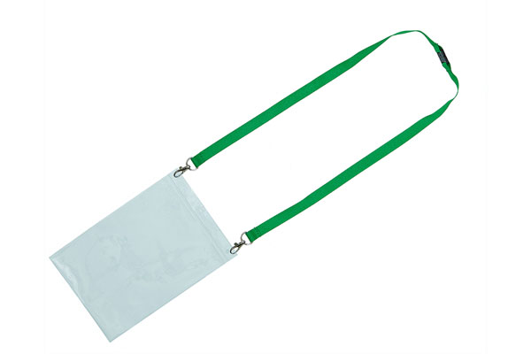 Type 0 PVC Wallet on a Double Clip Lanyard - Not Included