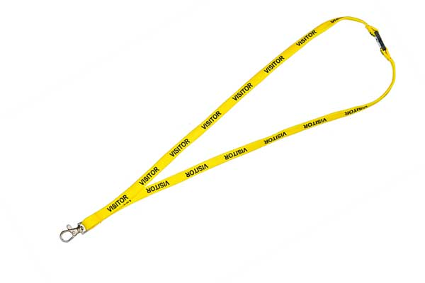 Yellow Visitor Lanyard